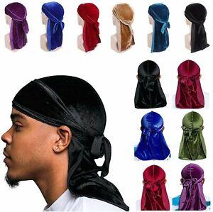 Unisex Women Men Velvet Durag Hat Cap Premium Design Doo Rag Wave Bicycle Dance