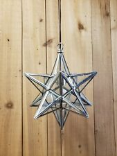 Moravian Star Pendant light from The Federalist Model LL-88 Nickle Finish