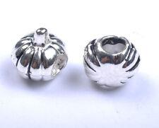 10pcs Tibetan Silver Pumpkin European Charm Beads SH68