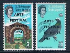St Kitts & Nevis 1964 Arts Festival SG 145/6 MNH