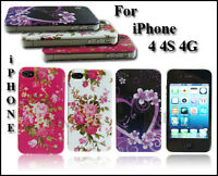 NEW STYLISH FLORAL FLOWER SERIES HARD BACK CASE COVER FOR APPLE I PHONE 4 4G 4S