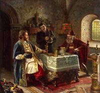 Oil painting Oskar Freiwirth-Lützow - Dear Guest from Far Away male portraits