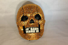 Rhinestone Skull Telephone with Bling in Gold Unique Design N 236