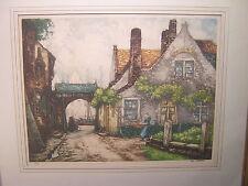 Alfred van Neste 1874-1969 Belgium Signed Numbered Framed Colored Print
