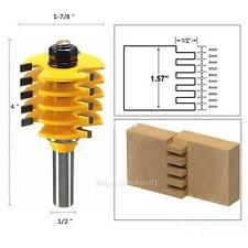 """1/2"""" Shank Wood Router Cutter Bit Tongue Groove Router 5 Blade 3 Flute Tools"""