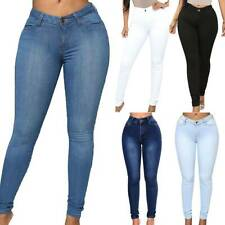 Women Skinny Slim Denim Jeans Jeggings Ladies Stretchy High Waist Pants Trousers