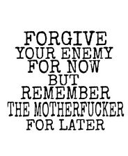 Car window decal truck outdoor sticker forgive enemy but remember F U Haters