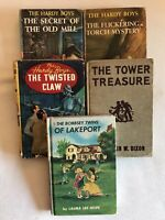 Lot of 5 Books - Hardy Boys (4) and the Bobbsey Twins (1) - All Hardcover