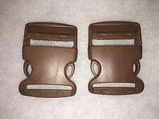 2 x 50 mm/ 2 in brown Plastic Side Quick Release Buckle Clip bum bag,webbing