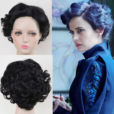 Miss Peregrine's Home for Peculiar Children cosplay short curly black wigs