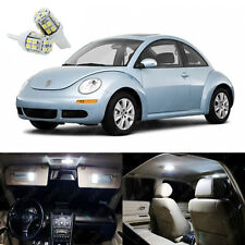 7 x Pure White LED Light Package Kit Deal For Volkswagen VW Beetle 1998 - 2011