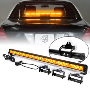 Amber 31 Inch LED Strobe Light Bar Emergency Warning/Traffic Advisor Dash Lamp