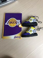 🔥 Lot of 3 Assorted Los Angeles LA Lakers Note Pad and Two Keychain