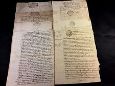 LOT OF ANTIQUE MANUSCRIPTS 1700s