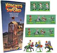 Britains Deetail Siege Tower Bundle - 18 painted knights with MIB siege tower