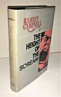 THE HEIGHT OF THE SCREAM by Ramsey Campbell Arkham House HC 1976 OOP