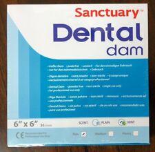 Sanctuary Dental Rubber Dam Latex 6X6 Thin Mint Green 36/PK ( QUALITY GUARANTEE)