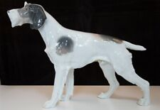 Metzler & Ortloff Porcelain Antique German Hunting Dog Wirehaired Poiter