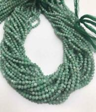 Natural Emerald 3mm Faceted Rondelle Gemstone Beads Handmade Jewelry
