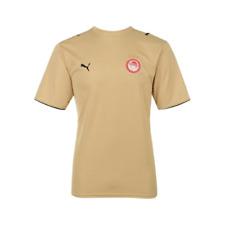 More details for puma men's olympiakos 2006-07 away retro football shirt - gold - new