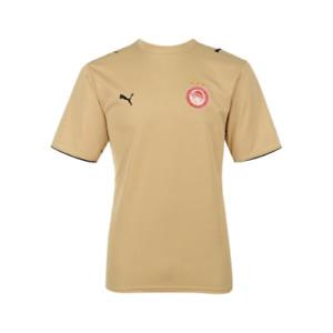 Puma Men's Olympiakos 2006-07 Away Retro Football Shirt - Gold - New