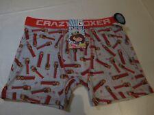 PEZ Crazy boxer shorts underwear mens lounge XL NEW grey red cbpez01mnky monkey