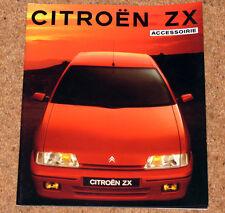 1991 Citroen Zx Accesorios Folleto-aleaciones, Cuerpo De Estilo, Teléfonos Celulares Etc