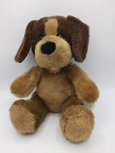 "Build A Bear Puppy Dog Brown Floppy Ears Pink Tongue 12"" Plush Stuffed Animal"