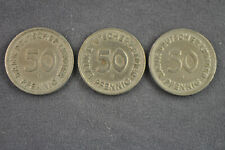 3 x 50 Pfennig Bank Deutscher Länder 1949 J und F aus Nachlass