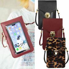 Women Convenient Crossbody Bag Transparent Touch-Screen Mobile Phone Bag Buckle