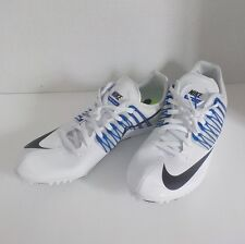 NEW Nike CELAR V Sprint Running Shoes 629226 100 MEN 8.5 with Spikes & SRT