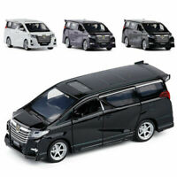 1:32 Licensed Toyota Alphard Alloy Diecast Model Collection MPV Car Kids LED Toy
