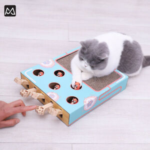 MiaoFairy Hit Hamster Toy For Cat Fun Toy Scratching Board AU STOCK