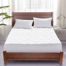 "Puredown Quilted Mattress Pad up to 18"" Deep Bedding Pillows topper"