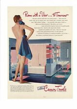 VINTAGE Gay Interest NUDE LGBT LADY CANNON TOWELS PHOTO ART AD PRINT