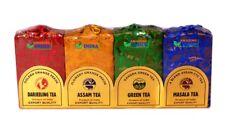 Gift Pack of 100% Pure Natural Indian Masala / Darjeeling / Assam / Green Tea