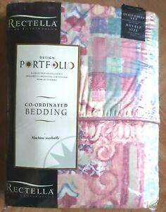 Ferndale Rose pink patterned Double 198x198cm duvet cover set