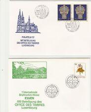 19 Messebelege Luxemburg 1988 - 2003