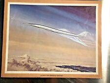 Lockheed 2000 Supersonic Airplane Transport RARE Aviation Print