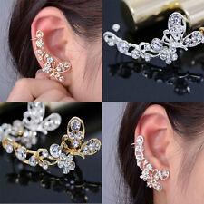 Mujer Moda Pendientes Aretes Ear Cuff Clip Oreja Mariposa  Joyería Earring