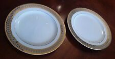 san marco by royal gallery DINNER PLATES Art Deco Design - LOT OF 2
