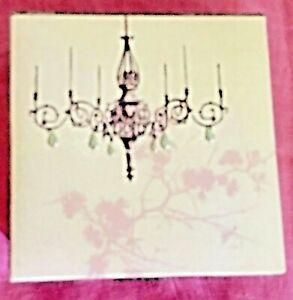 New Chandelier Design Paper Holder Pink Raised Silver Color Lights