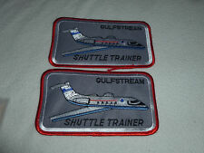 MILITARY PATCHES PATCH LOT OF 2 SET GULFSTREAM SHUTTLE TRAINER NOS VINTAGE NASA