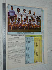 CLIPPING POSTER FOOTBALL 1979-1980 SCO ANGERS JEAN-BOUIN