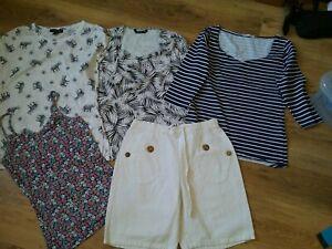 Ladies Summer Bundle Size 10/12, Shorts, Tops