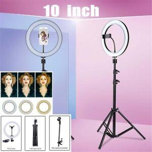"10""LED Ring Light Tripod Stand For Tiktok Youtube Makeup Video Phone Selfie Live"