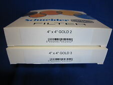 SCHNEIDER  4X4  FILTER  GOLD  2, 3   (LOT OF 2)