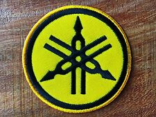 YAMAHA Iron On Patch & Sew Motorcycle Motocross Biker Scooter Racing Yellow