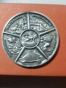 Disneyland Medallion Coin Token Main Street USA Micky Mouse Castle Pewter