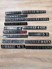 Auto Emblem Renault und Weitere Schriftzüge Original Schriftzug